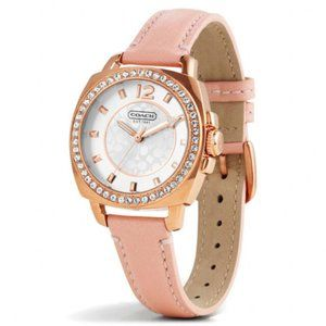 Coach Women's Watch Mini Pink Leather Rose Gold